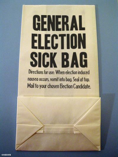 General Election Sick Bag